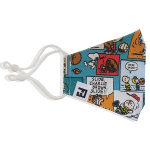 """Mascarilla de tela reutilizable """"Comic Snoopy"""""""